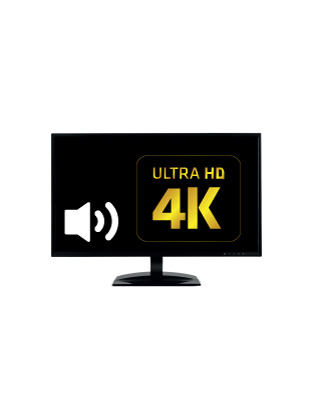 27'' 4K UHD LED Monitor with Speakers Built-in