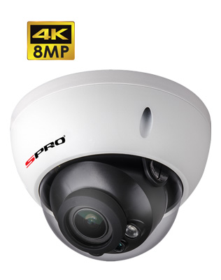 SPRO 8MP IP Fixed Lens Vandal Resistant Dome