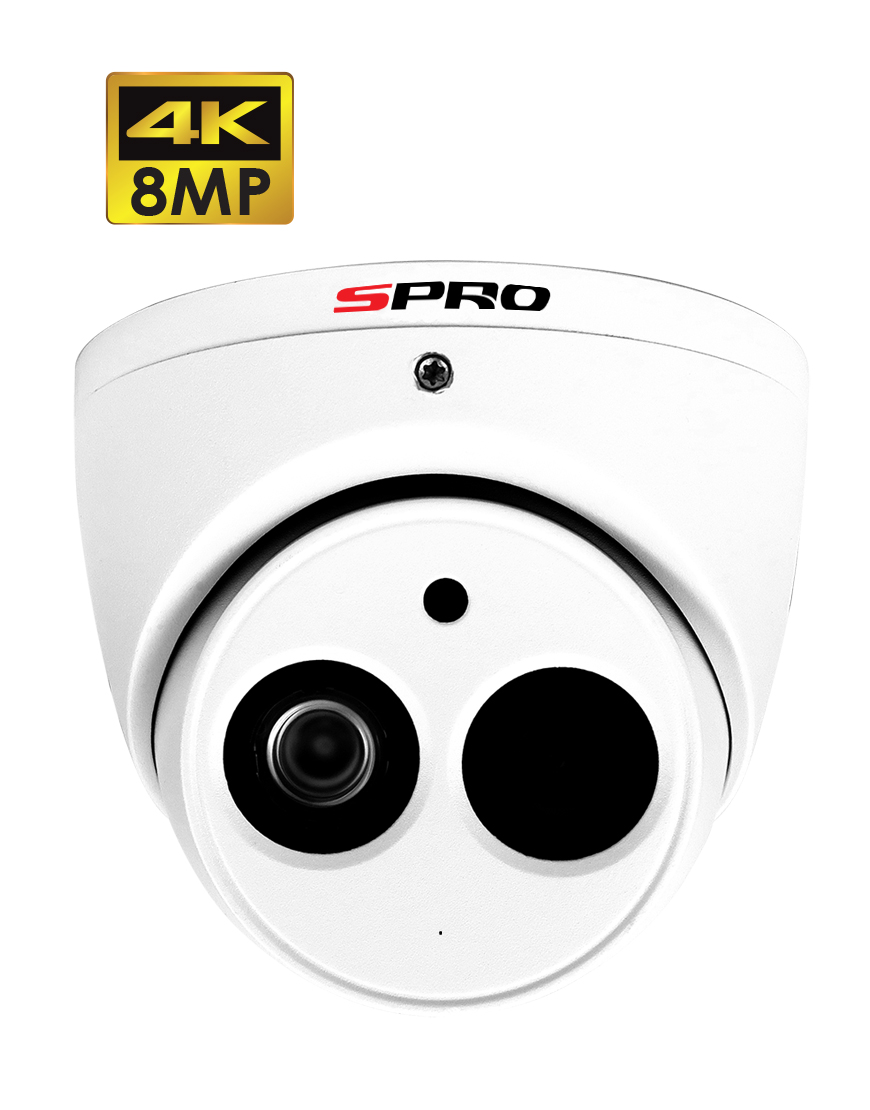 SPRO 8MP HDCVI Fixed Lens Turret With Built-In Microphone