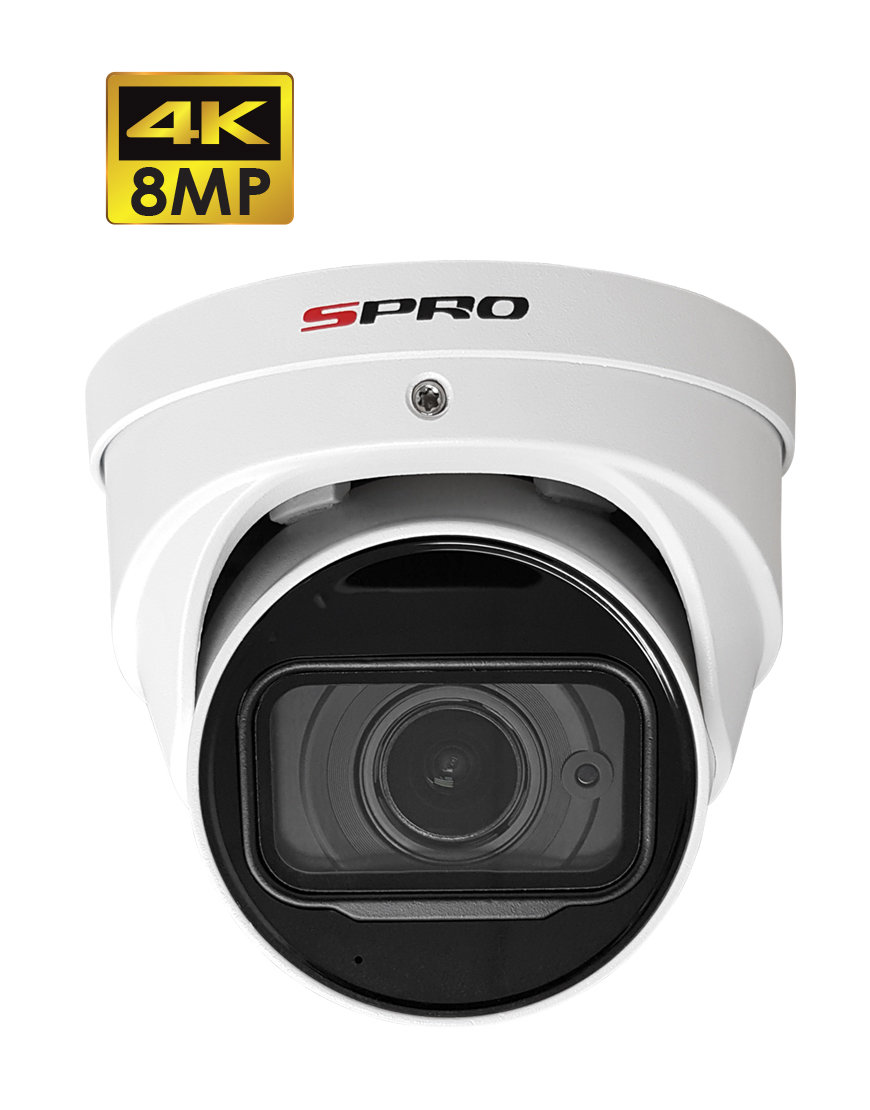 SPRO 8MP HDCVI Motorised Lens Turret With Built-In Microphone