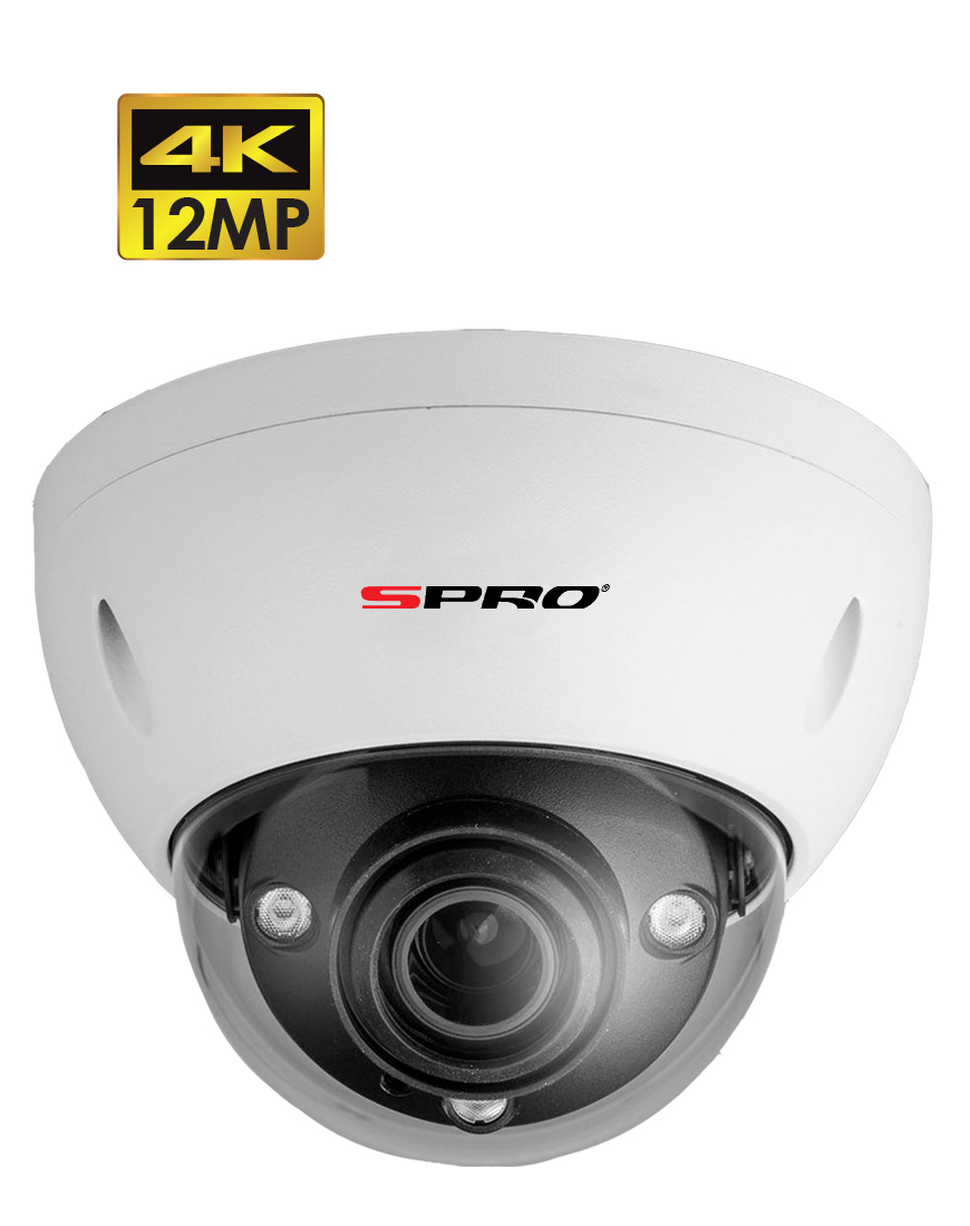 SPRO 12MP IP Motorised Lens Vandal Resistant Dome