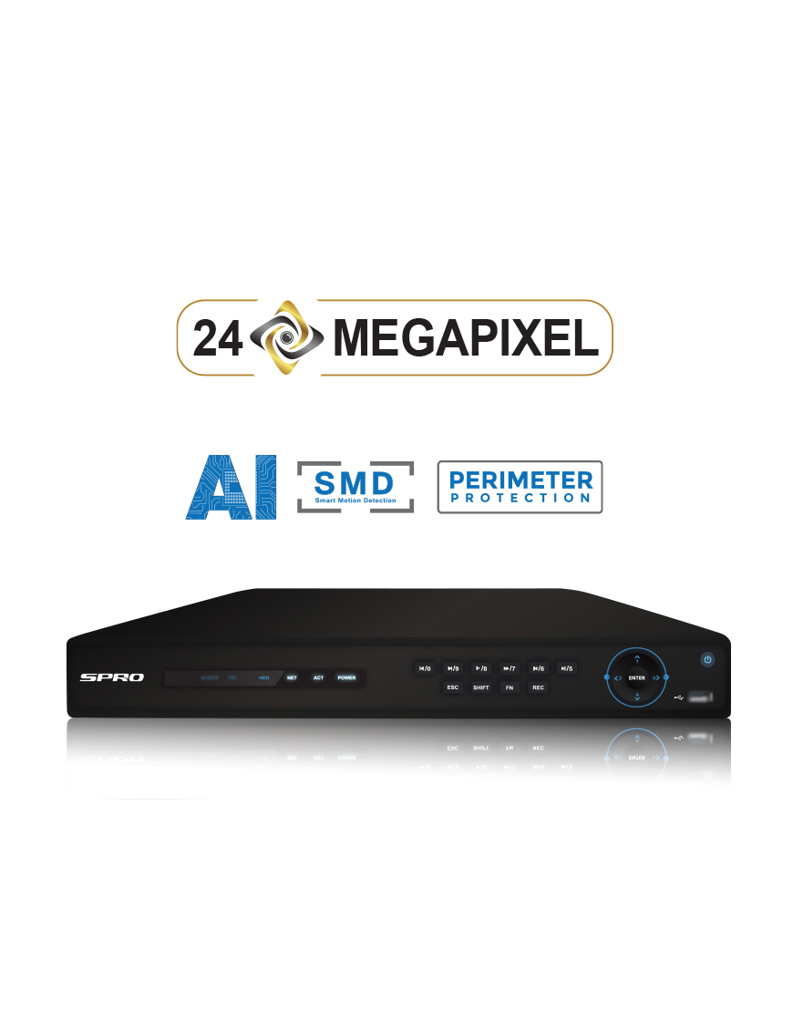 SPRO 4K 8 Channel 12MP IP NVR