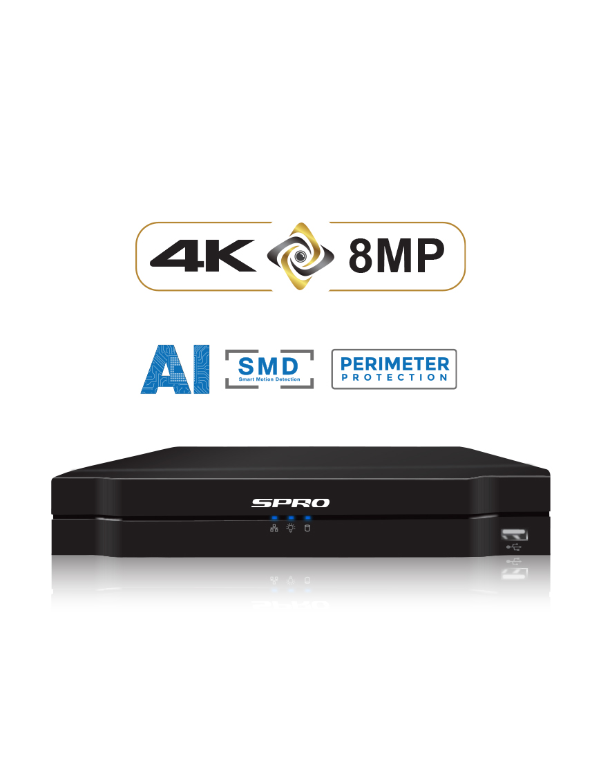 SPRO A4 8 Channel 8MP NVR