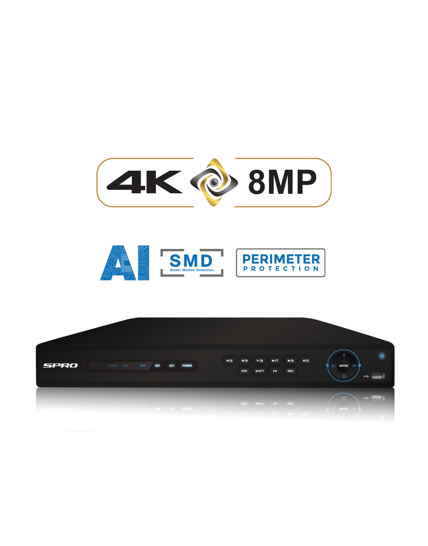 SPRO A3 16 Channel 8MP NVR