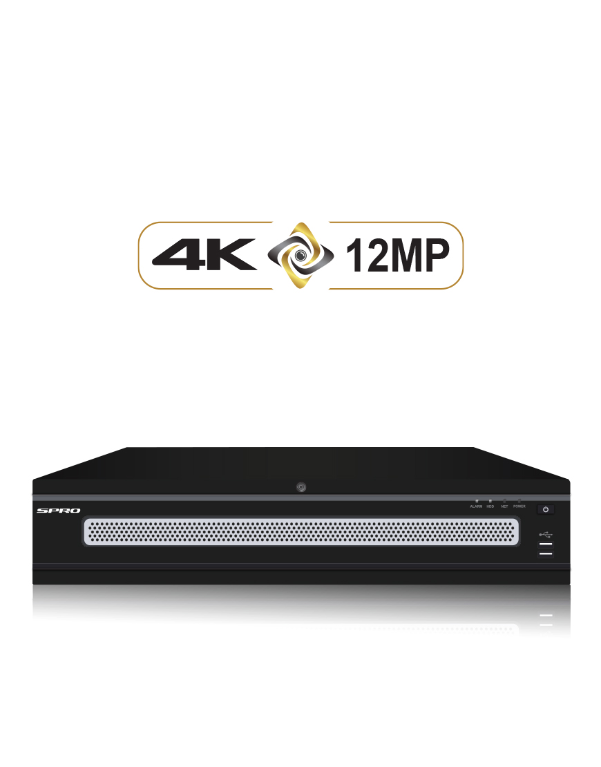 SPRO 4K 64 Channel 12MP IP NVR