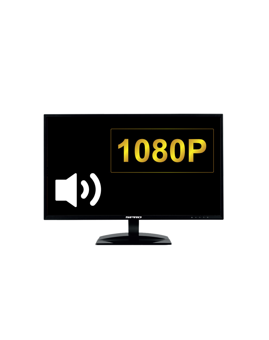 21.5'' LCD HDMI Monitor with Speakers Built-in