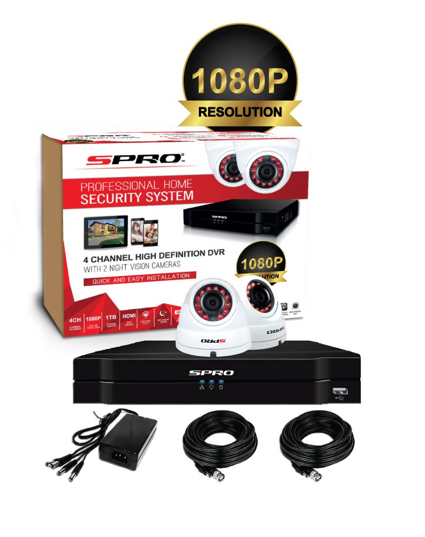 SPRO 1080P 4CH Bundle Kit
